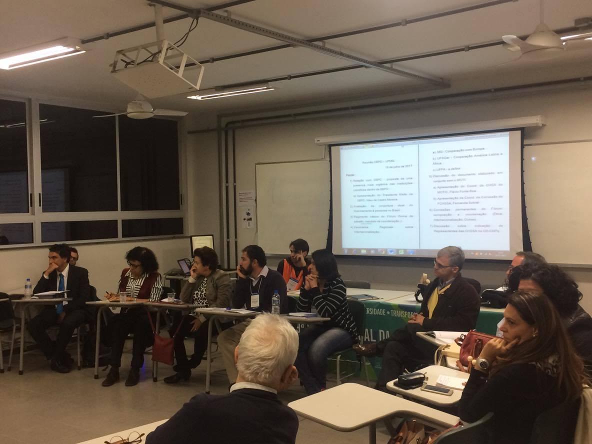Membros do Fórum CHSSA discutem demandas da área.