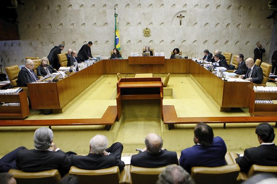 Brasilia DF 04 04 2918 Ministros Do STF Durante Voltação Do Habeas Corpus Do Ex Presidente Lula Foto STF