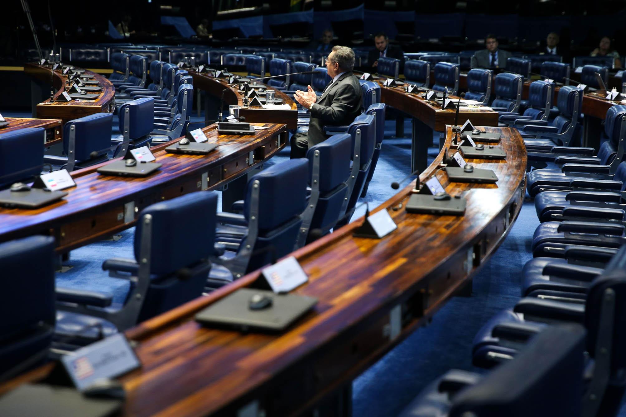 Brasilia DF 24 05 2028 Pais De Pernas Para O Ar E O Senado Na Quinta FeiraSessão Esvaziada No Plenário Do Senado.Marcelo Camargo/Ag  Brasil
