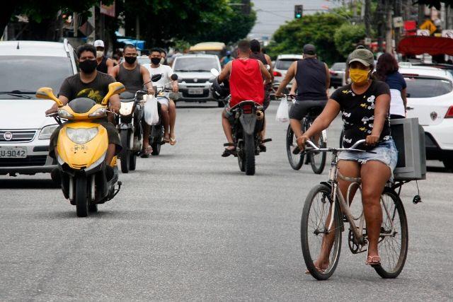 População Com Mascaras Em Belém. Marcelo Seabra Ag.Pará