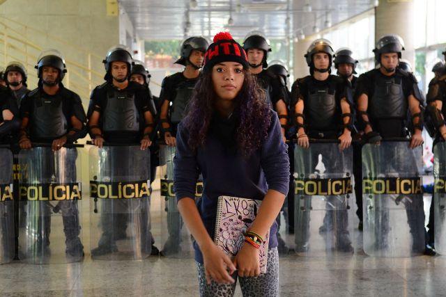 São Paulo - Polícia Militar Entrou No Centro Paula Souza, Ocupado Por Estudantes Desde A última Quinta-feira (28). A Justiça Concedeu Liminar Para Reintegração De Posse Do Prédio (Rovena Rosa/Agência Brasil)
