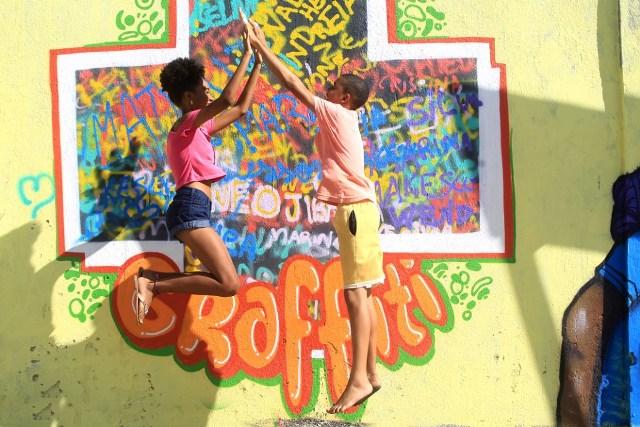 15/12/2017- Bahia- Projeto Mais Grafite No CSU Do Nordeste De Amaralina Foto: Paula Fróes/GOVBA