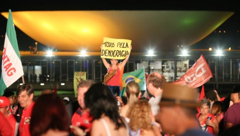 Brasília- DF 31-03-2016   Manifestação Contra O Impeachment E Defesa Da Democracia  Foto Lula Marques/Agência PT