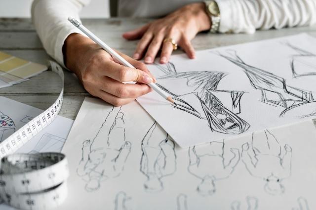 Caucasian Designer Creating New Design