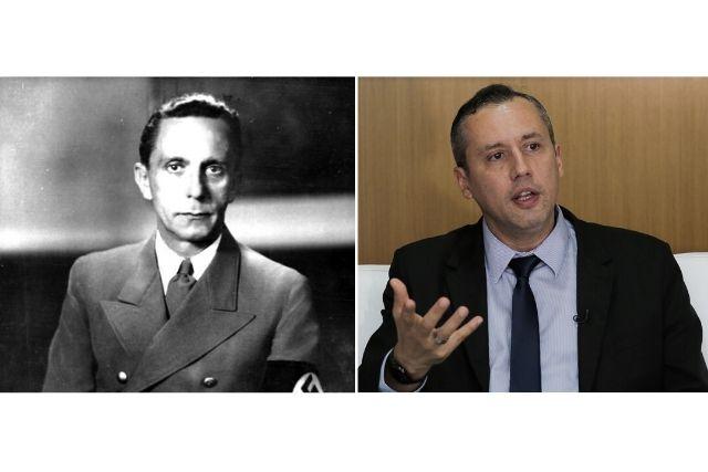 Montagem De Fotos Com Joseph Goebbels – Foto – Bundesarchiv Bild Weekimedia E Roberto Alvim – Foto – Valter Campanato Ag.Brasil