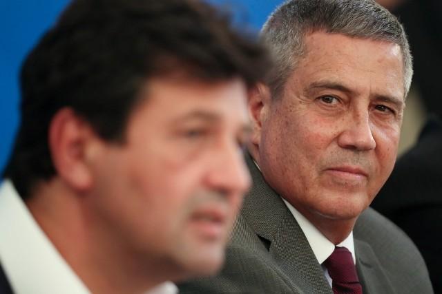 Ministro Da Saúde Luiz Henrique Mandetta E O Chefe Da Casa Civil General Braga Neto – Isac Nóbrega PR