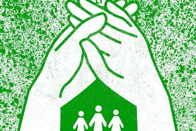 Ilustração Mãos Fazendo Uma Casa – Naçoes Unidas