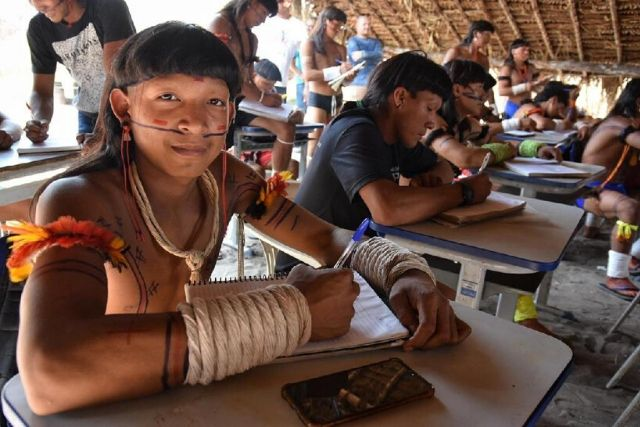 Indígenas Da Aldeia Halataikwa, Da Etnia Enawenê Nawê, Localizada Entre Os Municípios De Juína E Comodoro,MT. Jana Pessôa Setasc MT