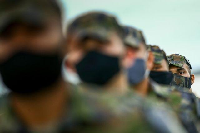 Soltados Fardados De Mascara Enfileirados – Marcelo Camargo   Agência Brasil